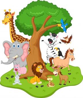 Desenho animado animal engraçado