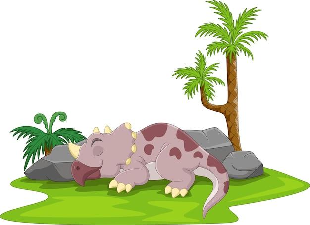 Desenho animado bebê dinossauro fofo