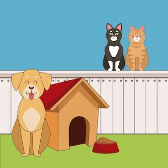 Desenho animado bonito de animais de estimação