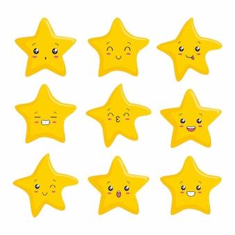 Desenho animado bonito estrela kawaii