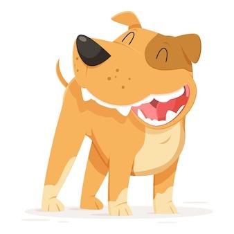 Desenho animado bonito ilustração pitbull