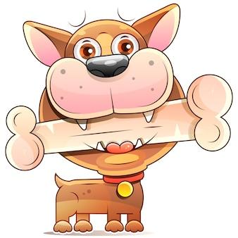 Desenho animado cão desenho realístico