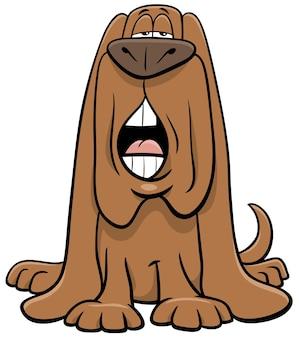 Desenho animado cão personagem animal latindo ou uivando