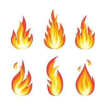 Desenho animado, chamas, fogueira, fogueira isolada