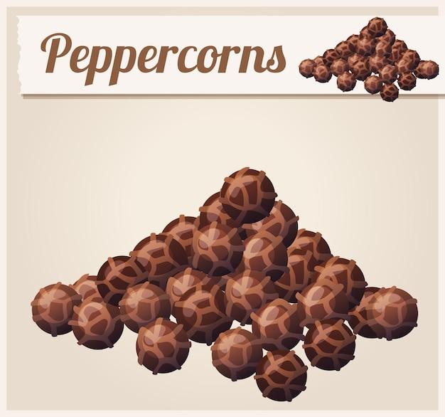 Desenho animado com peppercorns