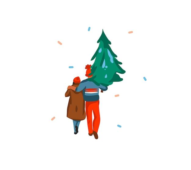 Desenho animado com tema de natal