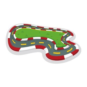 Desenho animado da fórmula de competição de autódromo