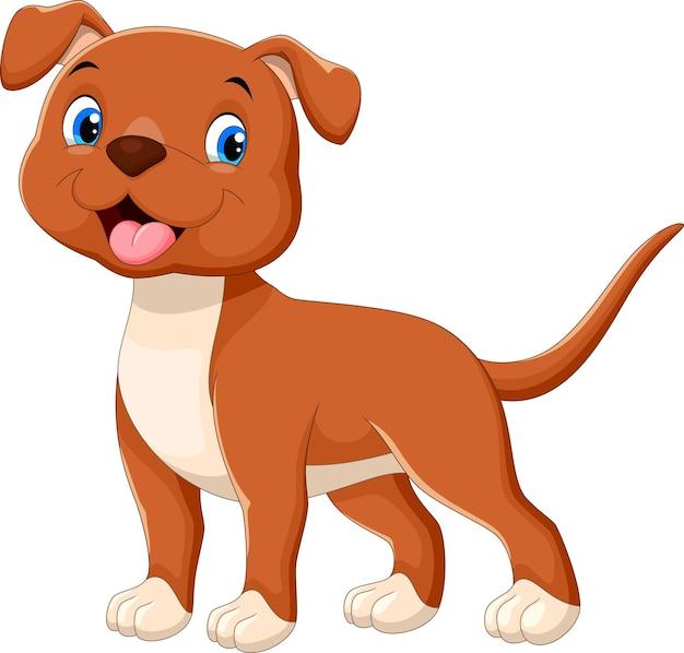 Desenho animado de cachorro feliz
