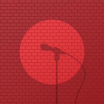 Desenho animado de comédia de tijolo vermelho