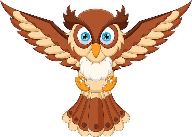 Desenho animado de coruja fofo