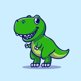 Desenho animado de dinossauro fofo