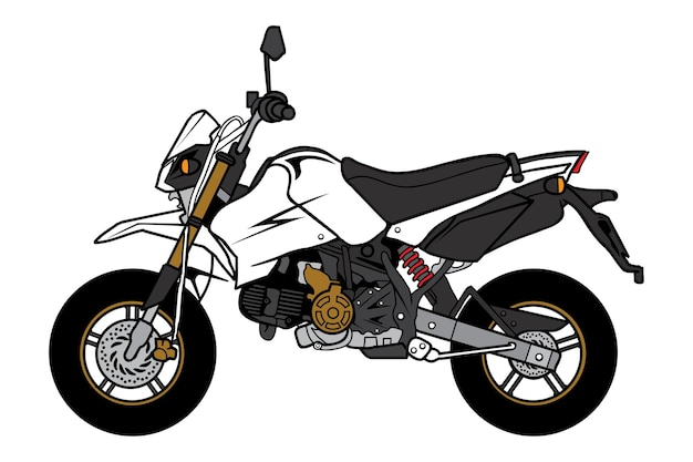 Desenho animado de motocicleta mini bike