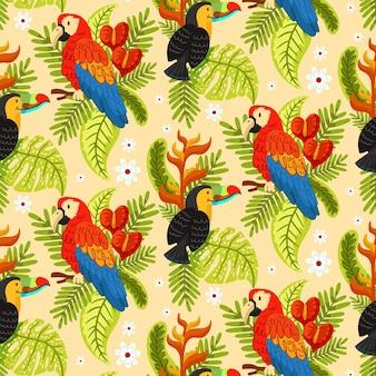 Desenho animado de verão tropical
