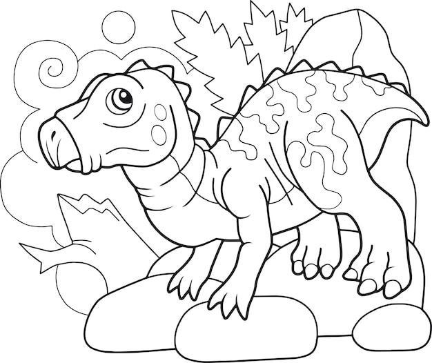 Desenho animado dinossauro iguanodonte