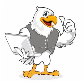Desenho animado do mascote da águia