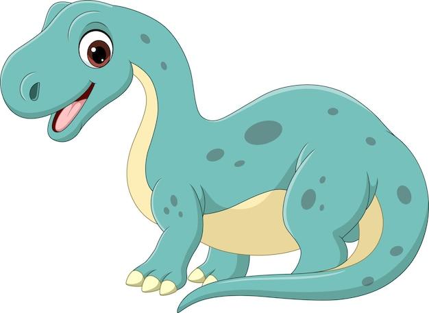 Desenho animado engraçado bebê brontossauro dinossauro