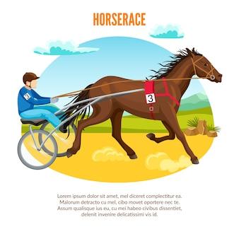 Desenho animado esporte equestre
