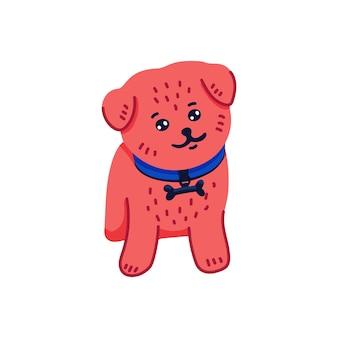 Desenho animado feliz filhote de cachorro pomeranian spitz