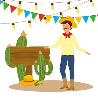 Desenho animado festa junina