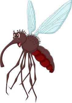 Desenho animado fofo mosquito sorridente