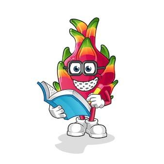 Desenho animado geek de pimenta. mascote dos desenhos animados