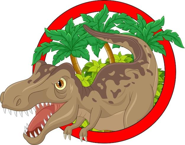 Desenho animado, grande, dinossauro, ilustração