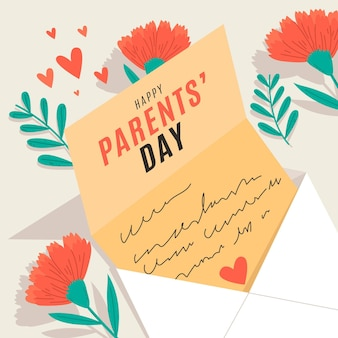 Desenho animado ilustração coreana do dia dos pais
