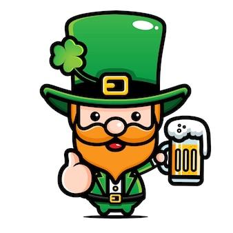 Desenho animado irlandês do dia de são patrício