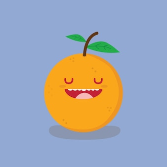 Desenho animado laranja