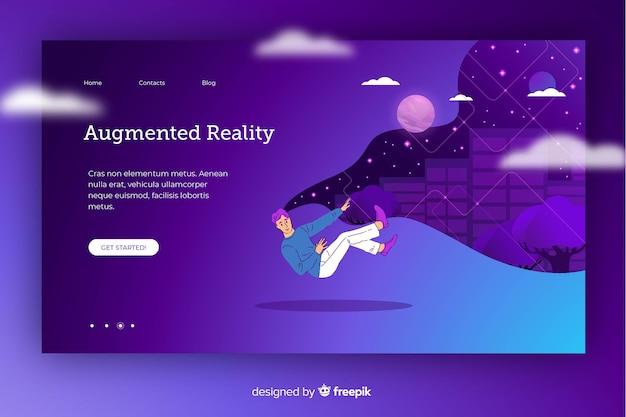 Desenho animado transportado em realidade virtual