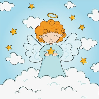 Desenho anjo de natal