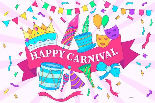 Desenho artístico com carnaval