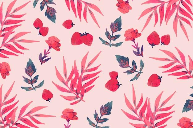 Desenho artístico de flores desabrochando