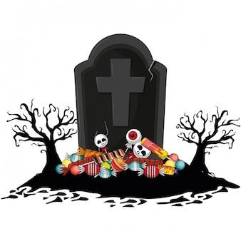 Desenho assustador de halloween
