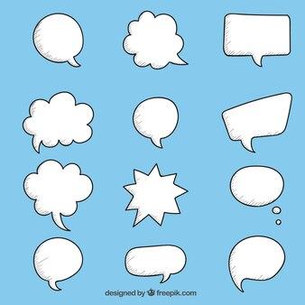Desenho bolhas do discurso