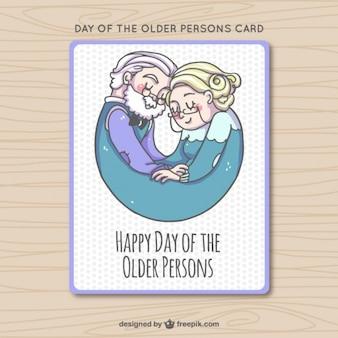 Desenho bonito cartão pessoas com mais