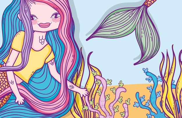 Desenho bonito da sereia