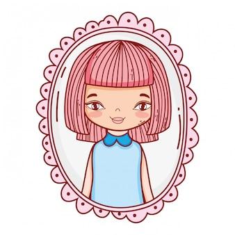 Desenho bonito de menina