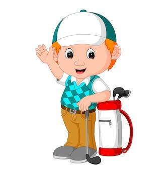 Desenho bonito golfista