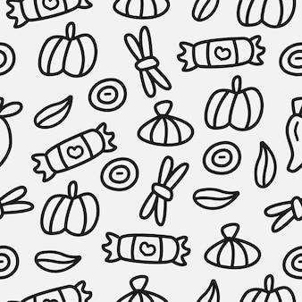 Desenho cartoon desenho padrão de especiarias