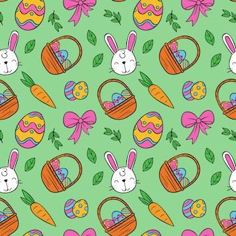 Desenho colorido padrão de páscoa