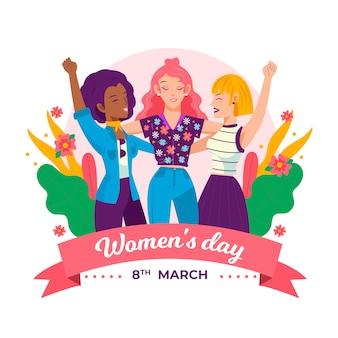 Desenho com evento do dia das mulheres