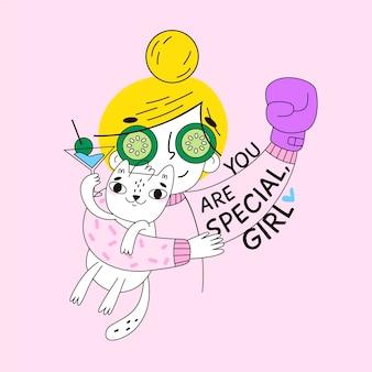 Desenho com tema do dia das mulheres