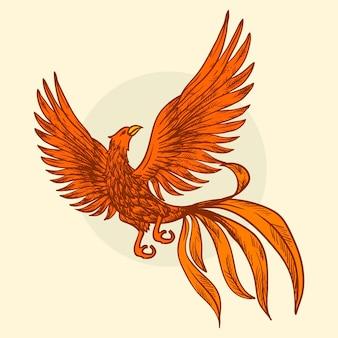 Desenho com tema phoenix