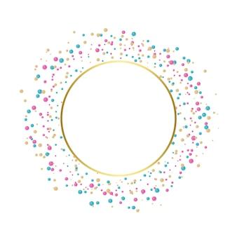 Desenho comemorativo de confetes coloridos