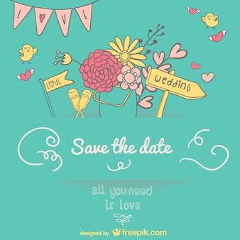 Desenho convite de casamento