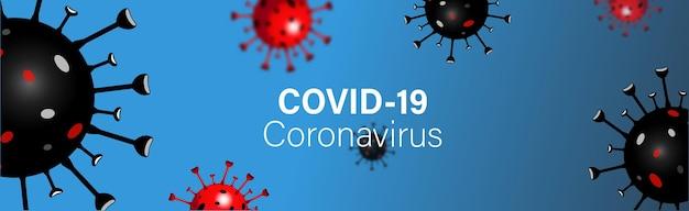 Desenho da bandeira do coronavirus covid-19. novo nome oficial da organização mundial de saúde da oms para a doença por coronavírus denominado covid-19, ilustração