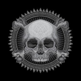 Desenho da cabeça do crânio
