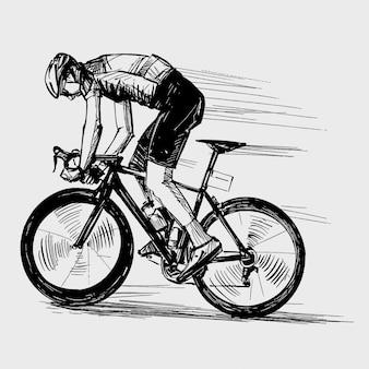 Desenho da competição de bicicleta