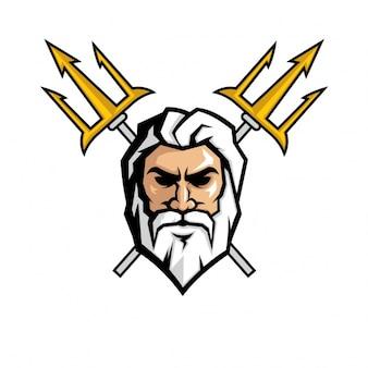 Desenho da face Zeus
